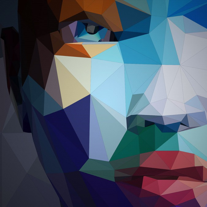 Geometric Woman Face Illustration