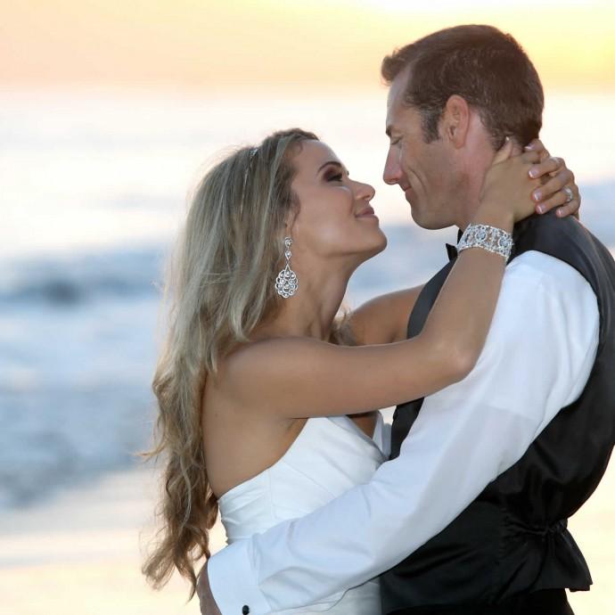 Kissing at Beach