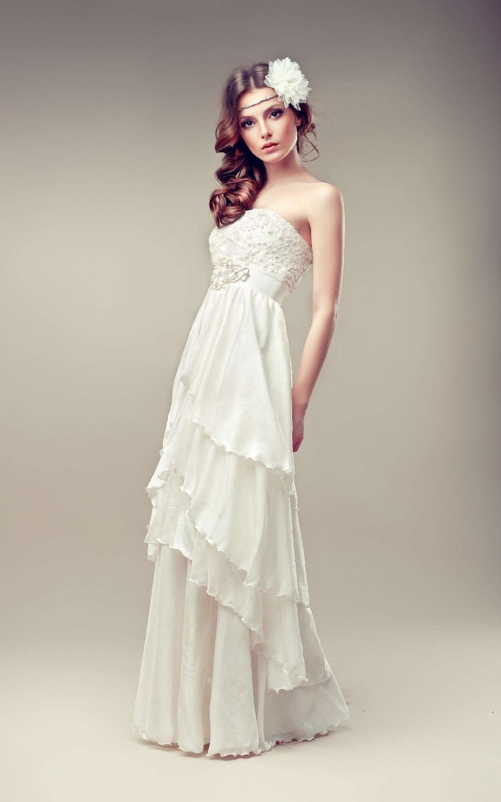 Lace Godet Gown